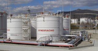 Строительные работы на нефтебазе
